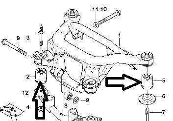 Lemforder Suspension Subframe Upper Wishbone Outer Bush